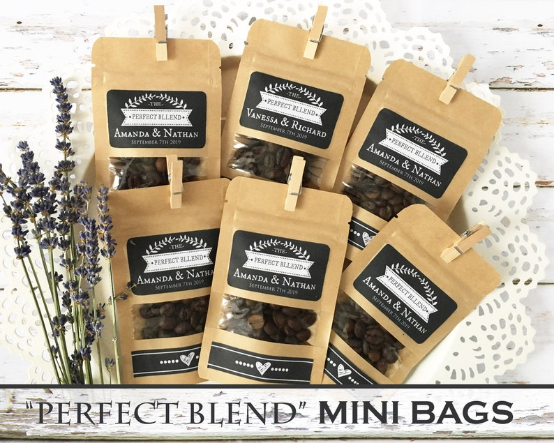 The Perfect Blend Personalized Coffe Bags Wedding Favors For image 0