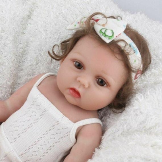 "18/"" Full Body Silicone Reborn Baby Dolls Girl Doll Lifelike Newborn Vinyl Toys"