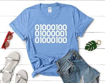 fae2e020 DAD in Binary Code Shirt, Binary T-shirt, Vintage shirt, Funny t shirt,  custom gift,Cool Secret Code T-Shirt, computer Tshirt