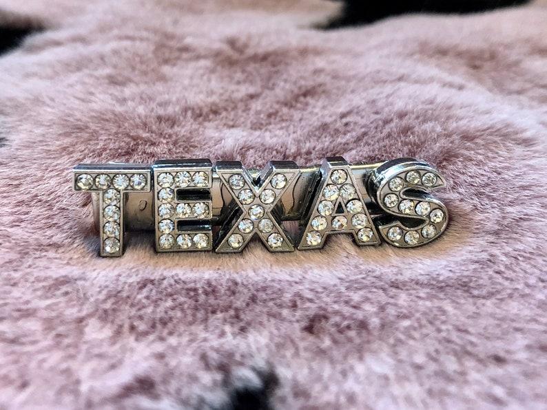 TEXAS rhinestone hair clip