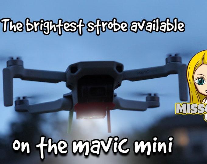 "DJI Mini 2 or  DJI Mavic Mini Bottom Strobe Mount fits Firehouse Technologies ""Arc"" or ""Arc II"" Revision 3(Mount Only)"