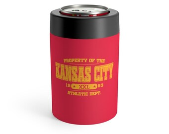 Kansas City Kc Football Retro Design Beverage Beer Drink Can Coozy Koozie Stainless Steel Metal Insulated Holder FREE SHIPPING