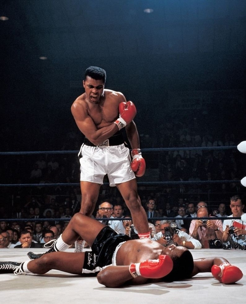 Muhammed Ali sonny liston 8x10 glossy photo image 0