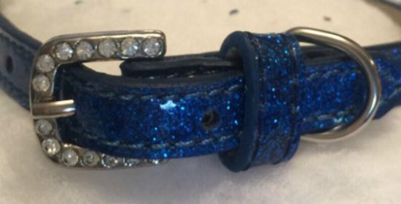 Kiwi Pets ~ Sapphire /& Aqua Blue Royalty diamante crystal rhinestone dog cat pet collar necklace