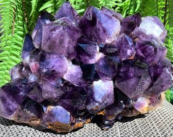 Top Natural Raw Crystal Specimen-Fascinating Amethyst-Chakra-Meditation/Amethyst Quartz/specimen/Feng Shui/Healing crystal/Energy stone-2