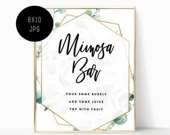 image regarding Free Printable Mimosa Bar Sign referred to as Mimosa bar printable Etsy