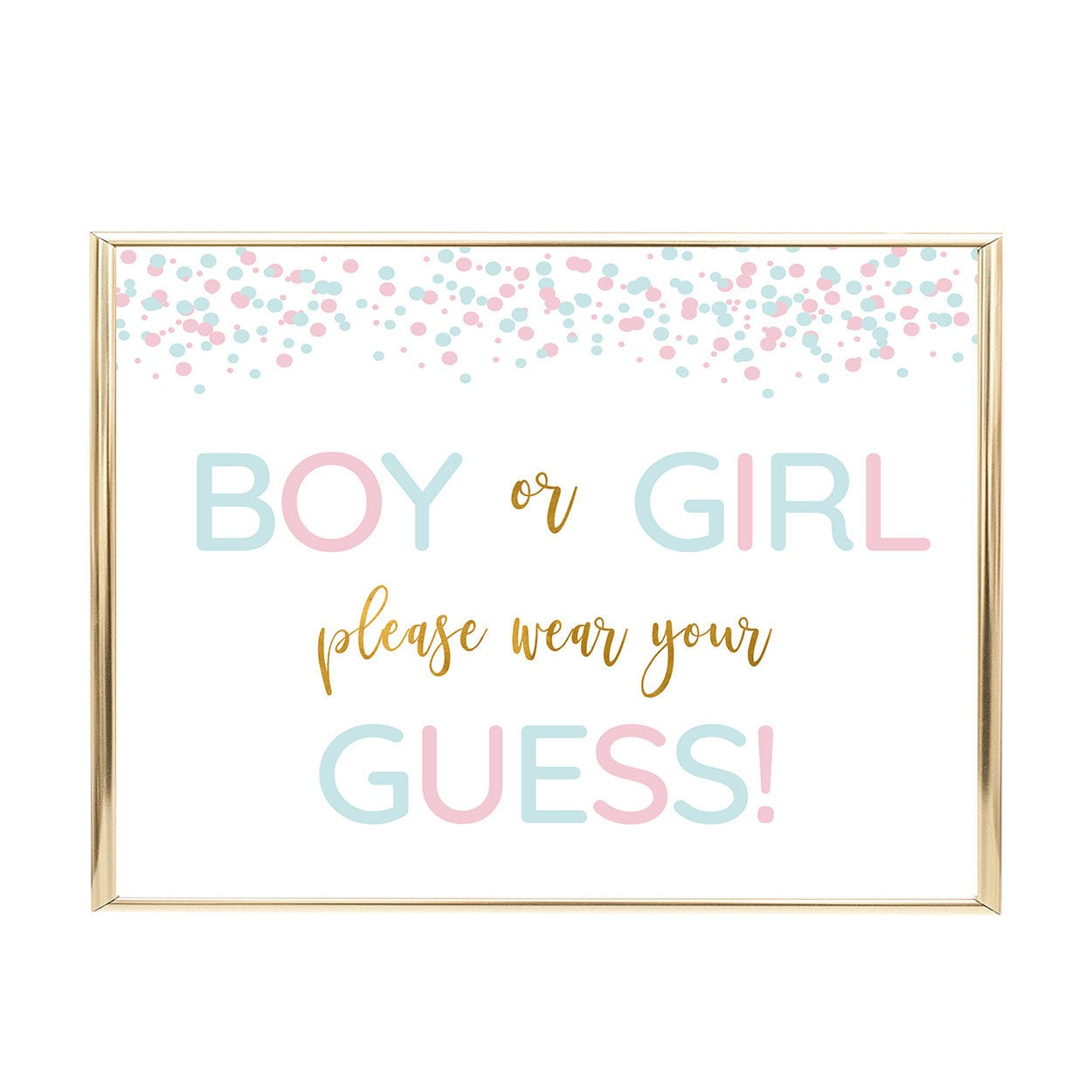 Wear Your Guess Blue Or Pink He Or She Gender Reveal Etsy