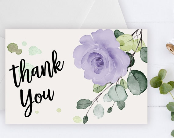 INSTANT DOWNLOAD - Thank You Card, Thank you postcard, Thank yous, Diy thank you card, Floral thank you, Thank you pdf, Thank you notes