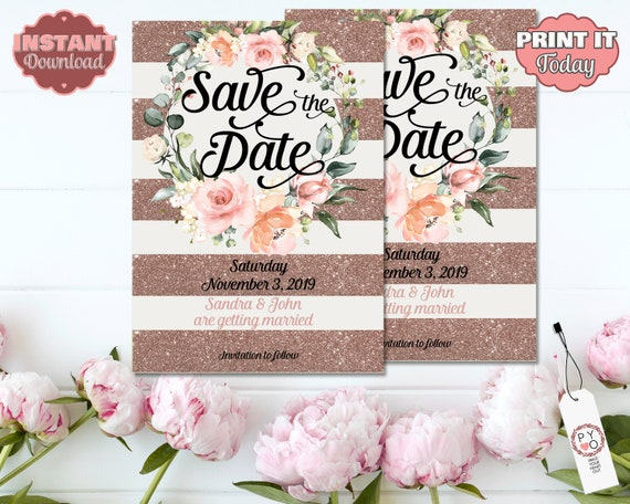 TRY Before You BUY - Save The Date Ideas, Unique save the date, Save our date, Rustic save the date, Printable save the date, Date card
