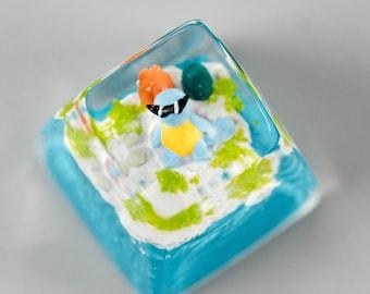 Pokemon Charmander Keycap Fanmade keycap handmade resin artisan Cherry MX keycap