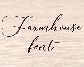 Farmhouse Font Font Download Digital Font Calligraphy Font Script Font Handwritten Font Wedding Font Brush Font Modern Font Font Download Download 16956 Free Fonts Free Typography Script
