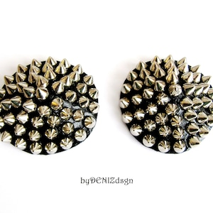 Spiked  Pasties Silver Pasties Studded Nipple Pasties Nipple Cover Jewelry Body Accessories