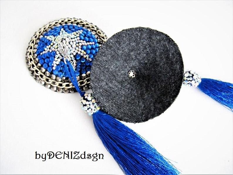 Star Pasties,Blue Nipple Pasties Rhinestone Pasties,Nipple Tassel,Blue Nipple pasties With  Chainette Tassel,Nipple Cover,Burlesque Pasties