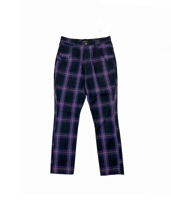Archive Kapital Check Purple Tartan Style Jeans Pa