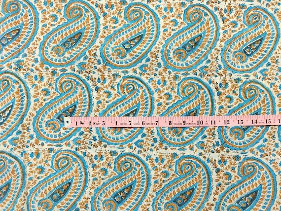 2.5 Indian Hand Block Print Cotton Fabric Natural Printed Handmade Sanganeri