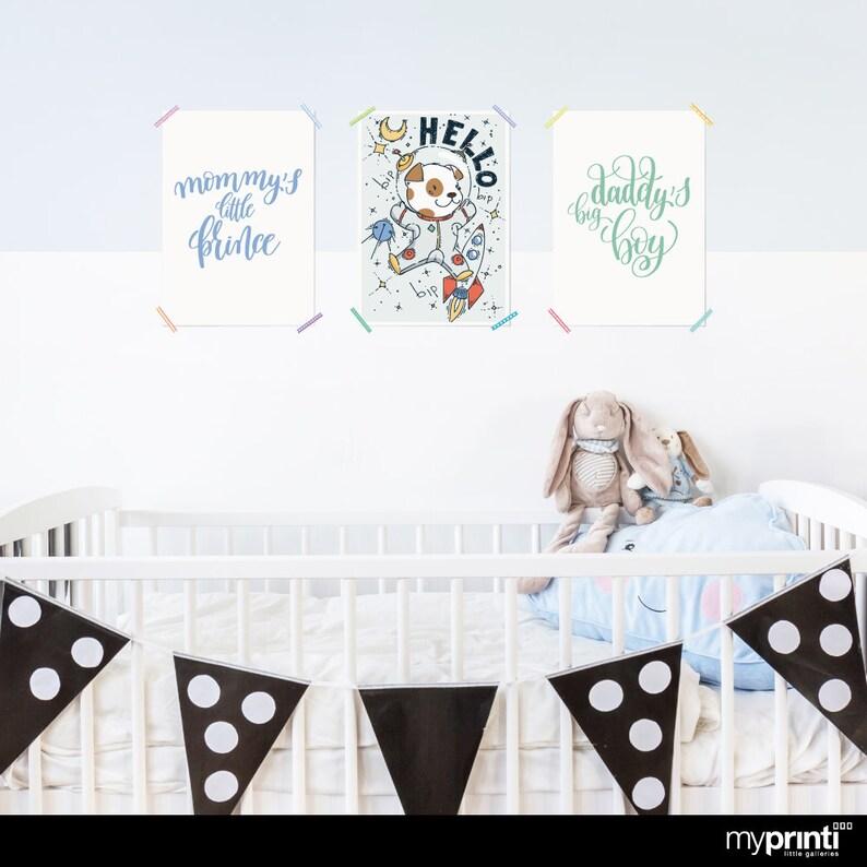 Myprinti 3er Set Kinderzimmer Poster Babyzimmer Bilder