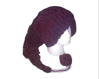 e9a4b22a1497c3 Long stocking hat gradient with genuine freshwater pearl accent