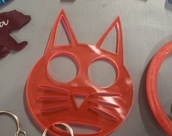 Cat Custom Keychain Etsy