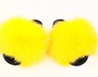 online store 56457 e7442 Nike fur sandals | Etsy