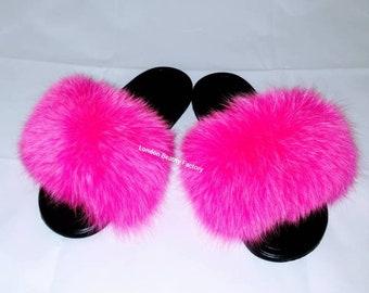official photos 1a8bd 4bab9 Nike fur slides | Etsy
