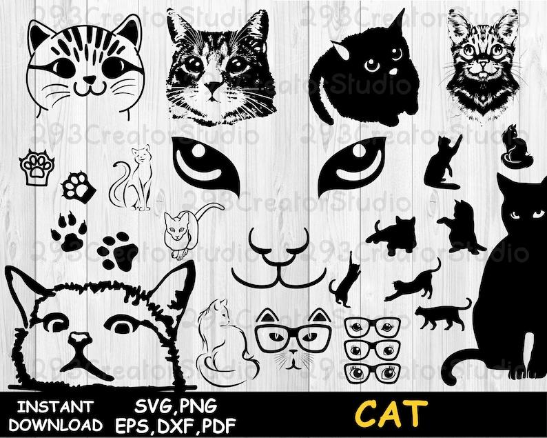 Download Cat SVG bundle Kitten Svg meow svg Black cat svg Cute cat ...