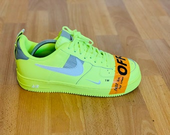 0b3a4c165 Custom Nike Air Force 1 Utility OW (industrial tape) Neon
