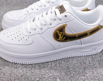 a9c6a08491ac Custom Air Force 1 Leather V Swoosh
