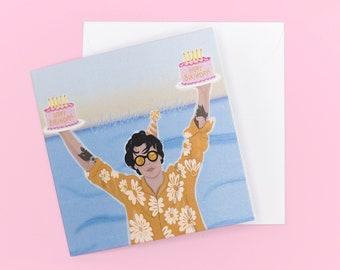 Harry Styles Birthday Card / Celebrate in Style / Watermelon Sugar / Birthday Card / Greeting card / Harry Styles Illustration