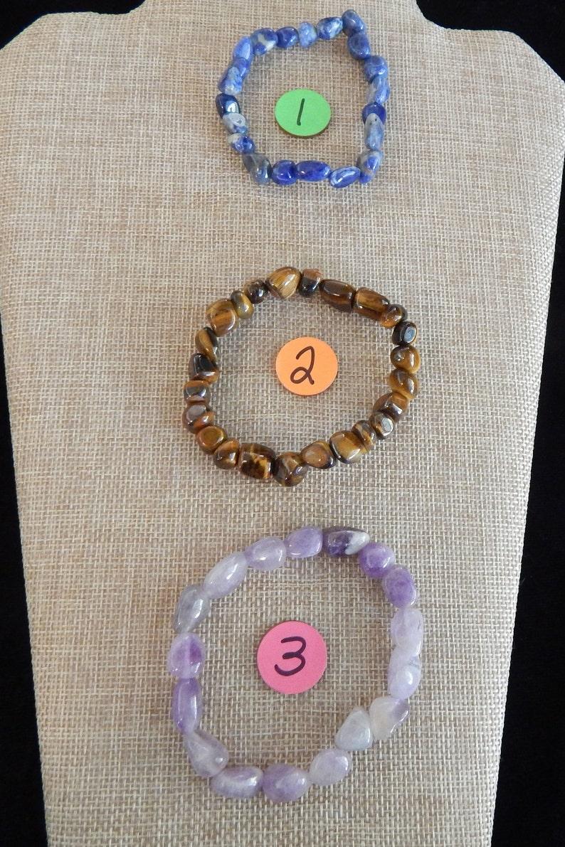 Amethyst Stone Nugget Bracelet~ Sodalite Tiger Eye