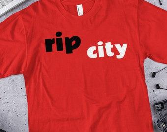 8153e1342d2 Men s Portland Trail Blazers Fanatics Branded Red Primary Wordmark T-Shirt