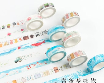 gift wrap Scrapbooking Embellishment Infeelme Live Interesting Series roll tapes masking tape KS-RT-322 Papercraft Supplies 6 Types
