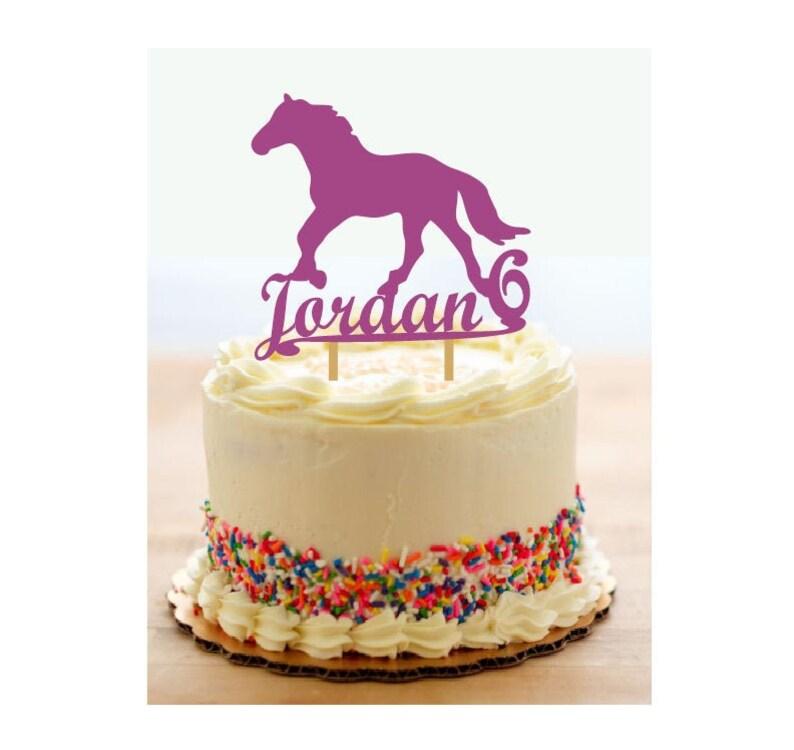 Farm Theme Cake Topper Farm Decor Shower Horse Decor Any Name Cake Topper BoyGirl Birthday Birthday Cake Topper Horse Cake Topper