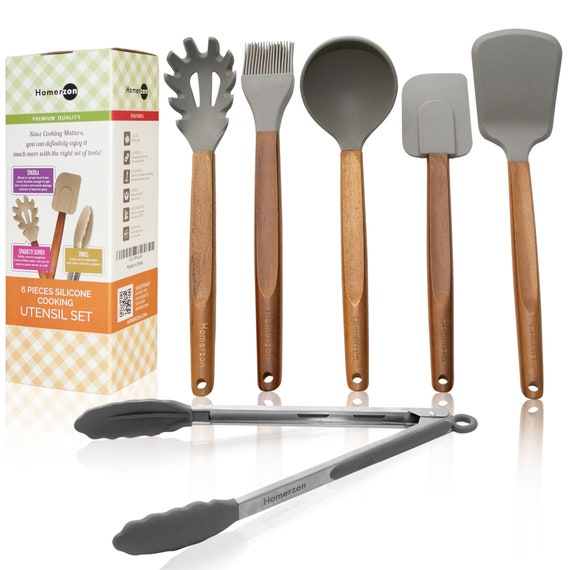Silicone Cooking Utensils 6 Pcs - Free Shipping