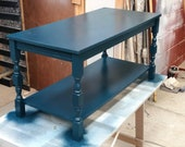 Charming Hauge Blue Farrow and Ball Coffee Table