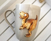 Toothless, Night Fury, Dragon mug,Dragon figure, Gift for children,Dragon Sculpture,Dragon Gift,Cup of tea,A cup with decor of polymer clay