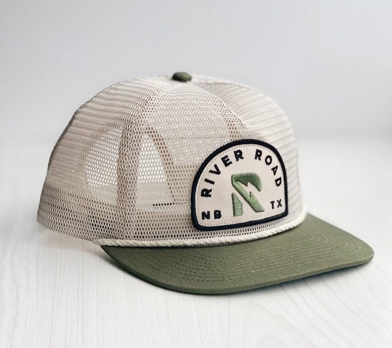 RIVER ROAD Mesh Hat PREORDER New Braunfels Texas Rope Snapback Hat