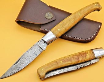 Damask Knife Pattada Hunting Knife Sardinian Knife Pocket Knife GROSS 23 cm (T29o)