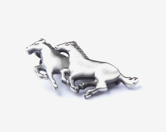 8b4f068819d3 Wild Horses Mustang Tie Clip Conversational Novelty Mens Fashion Tie Bar