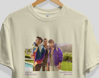 ba17b1503 Happiness Begins - Jonas Brother Inspired t-shirt // Jonas Brothers Merch,  Tour, concert, music, Gift for, fan, shirt