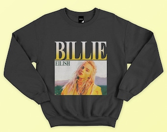 c0be81fa Billie Eilish Inspired Sweatshirt - Homage Sweatshirt, Gift for fan, Unisex  Sweatshirt, Vintage Style, 90s,