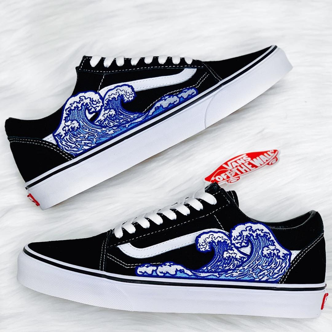 vans fiamme personalizzate