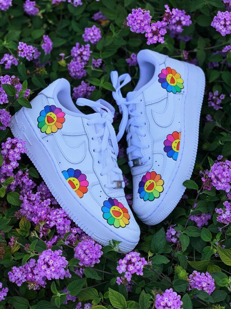 82c29e83467b9 Billie Eilish, Nike Air Force 1, Air Force 1, Custom Air Force 1, Haruki  Murakami, Murakami, Takashi Murakami, Custom Sneakers, Custom Nikes