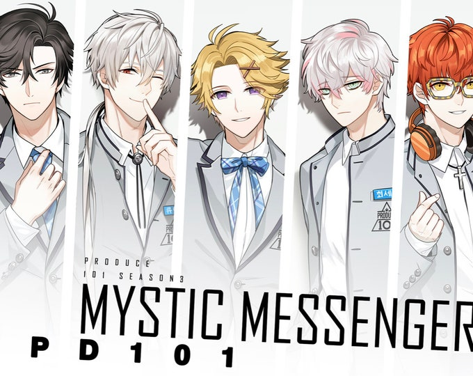 Postcard Mystic Messenger x Produce 101