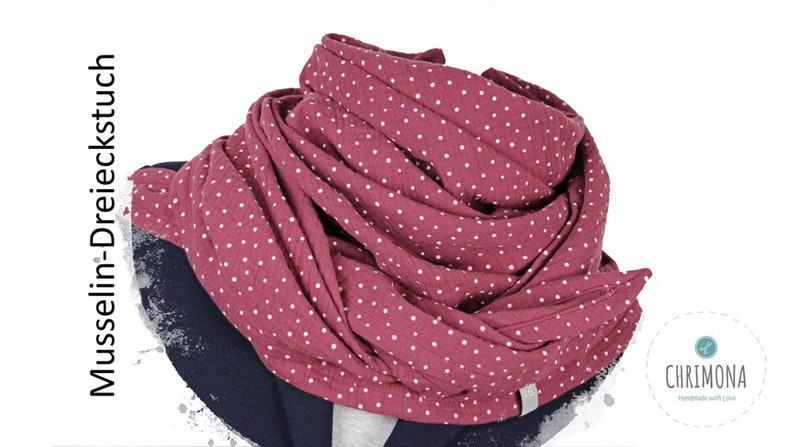 Musselin cloth muslin scarf triangle scarf for women and image 0