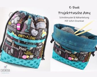 E-Book Schnittmuster: Projekttasche, Handarbeitstasche Amy