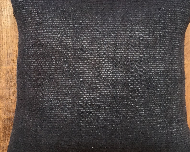 20x20 black hemp pillow,hemp pillow,cushion cover,livingroom decoration throw pillow,patchwork rug pillow,striped pillow,Lumbar pillow,1351