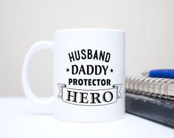 7ca236da4 Husband Daddy Protector Hero Mug, Gift for Dad, Gift for Husband, New Dad  Mug, New Dad Gift, Daddy Mug, Daddy Gift, Father's Day Mug -Banner