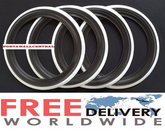 "ATLAS Brand 16/""X3/"" Wide Big White Wall Portawall Tire insert Trim set 4 pcs."