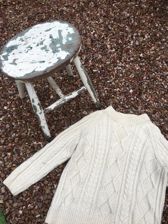 Aran knit vintage jumper