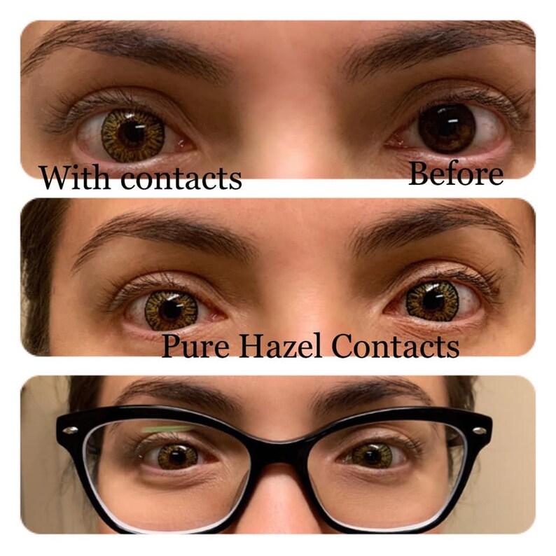 Non Prescription Colored Contacts >> 2 Pairs Of Non Prescription Color Contacts Etsy